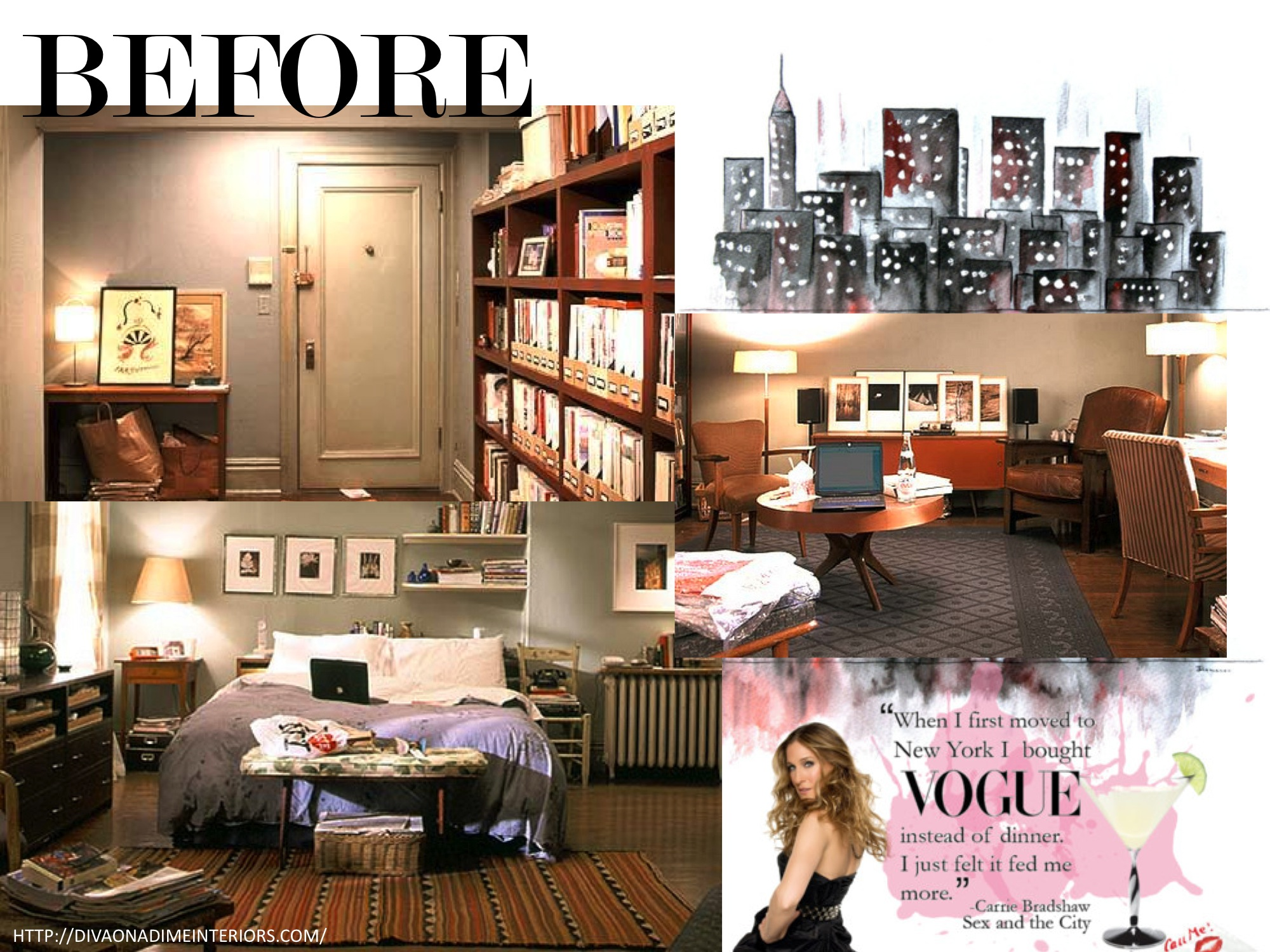 Astonishing Original Apartment Of Carrie Bradshaw Interiors Pinterest Short Hairstyles Gunalazisus
