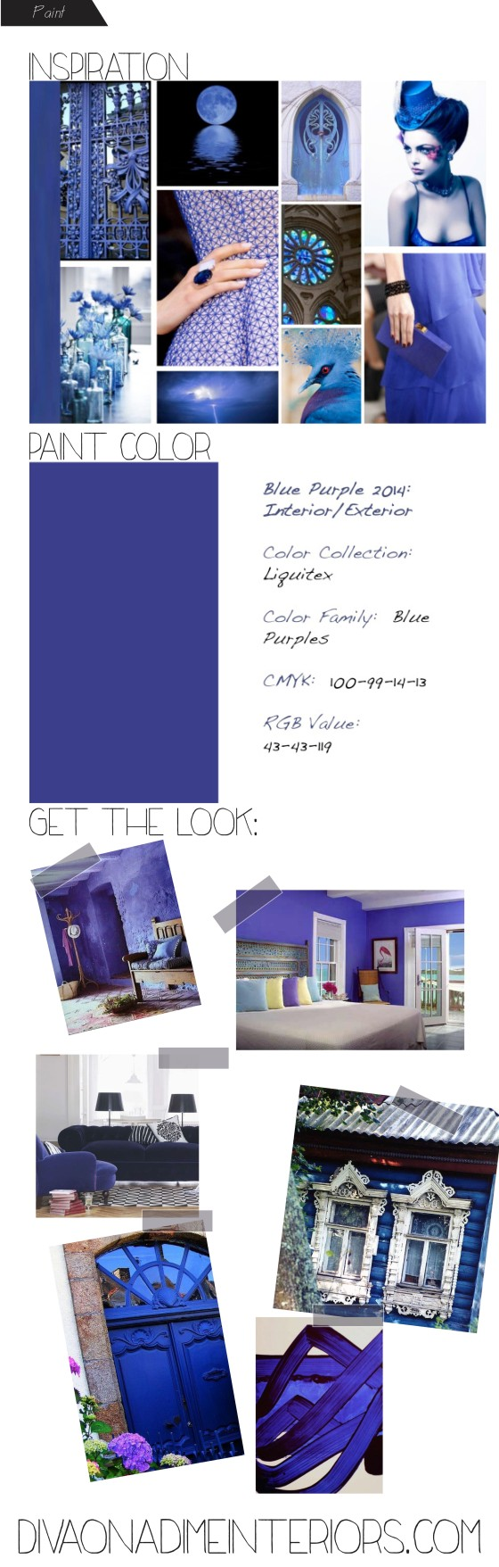 diva on a dime interiors blue purple paint