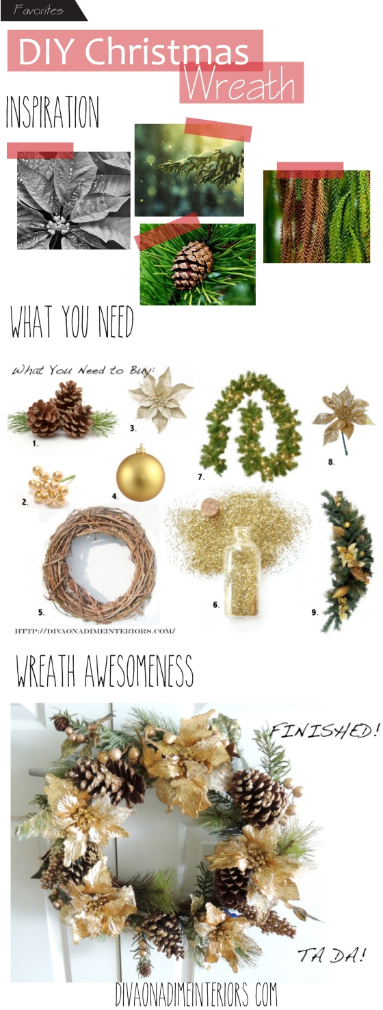 diy wreath project diva on a dime interiors blog blogger