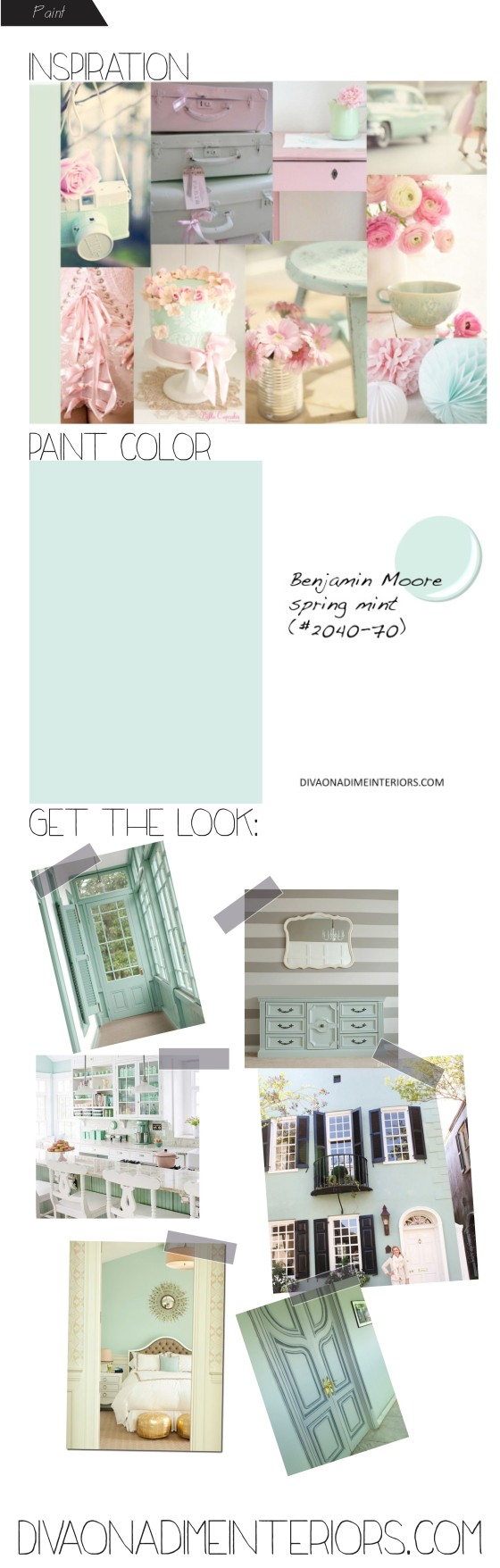 diva on a dime interiors benjamin moore mint paint color