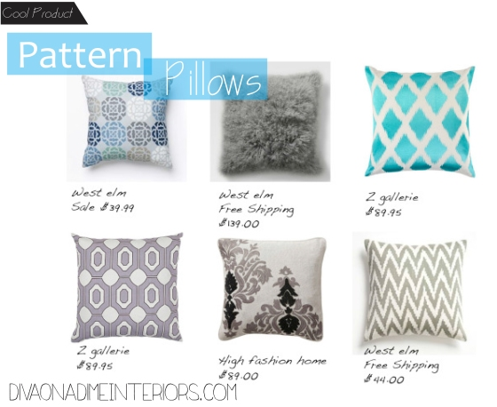 diva on a dime interiors pattern pillows