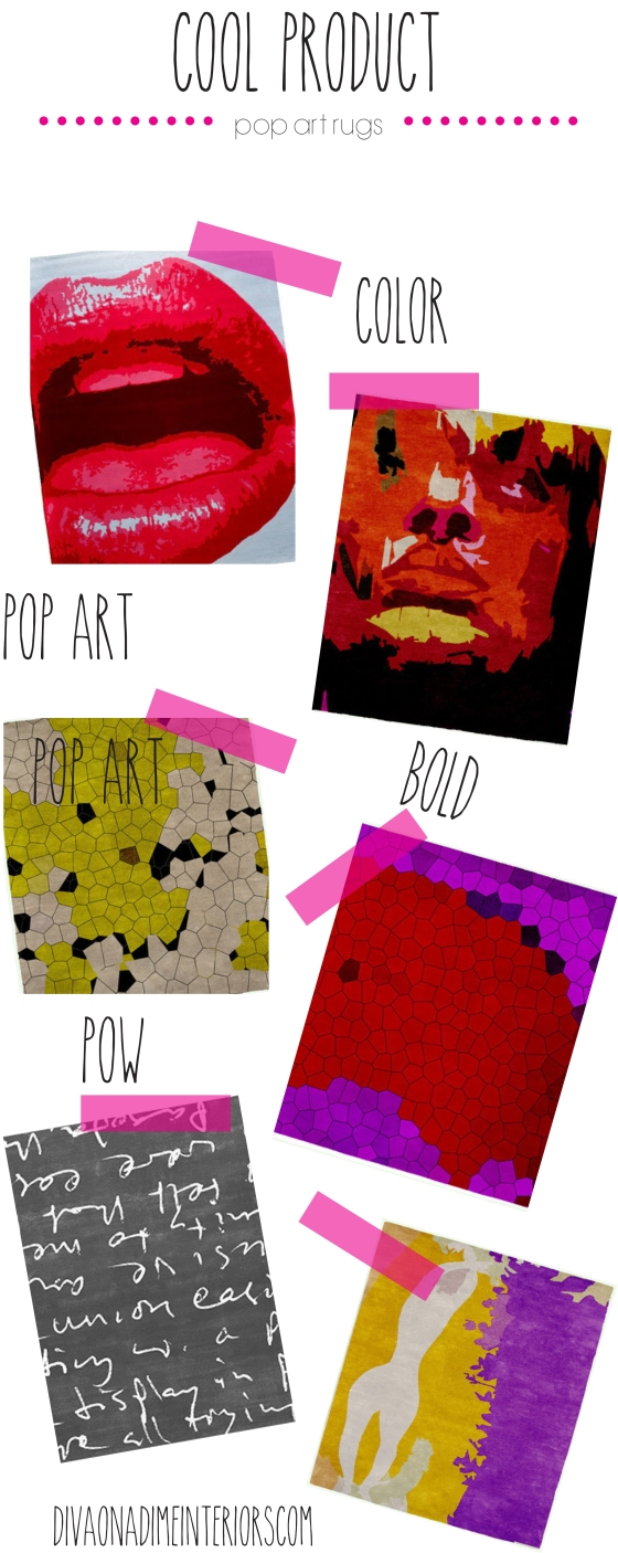 POP ART DIVA ON A DIME INTERIORS RUGS