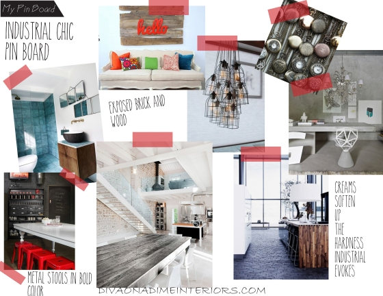 industrial chic pin board diva on a dime interiors