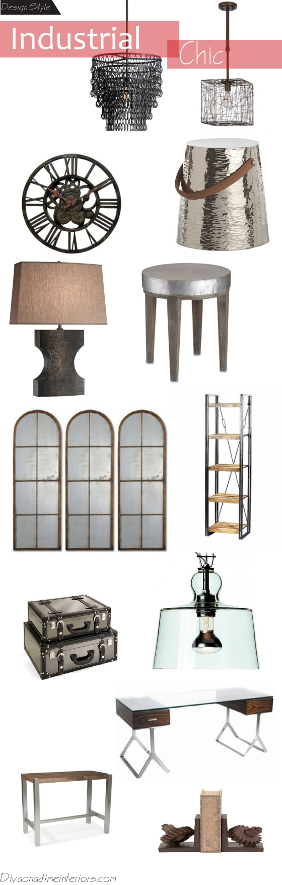 industrial chic diva on a dime interiors
