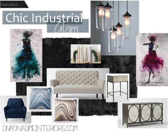 chic industrial glam diva on a dime interiors marissa iacovoni