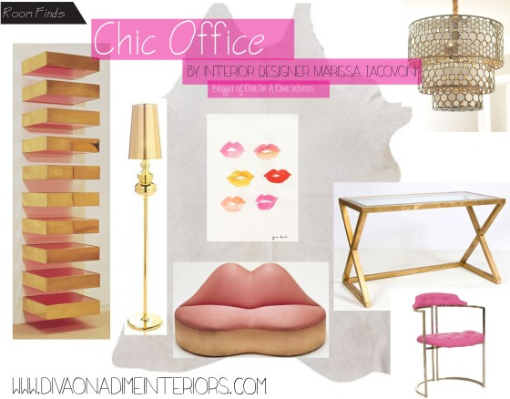 diva on a dime interiors pink office marissa iacovoni