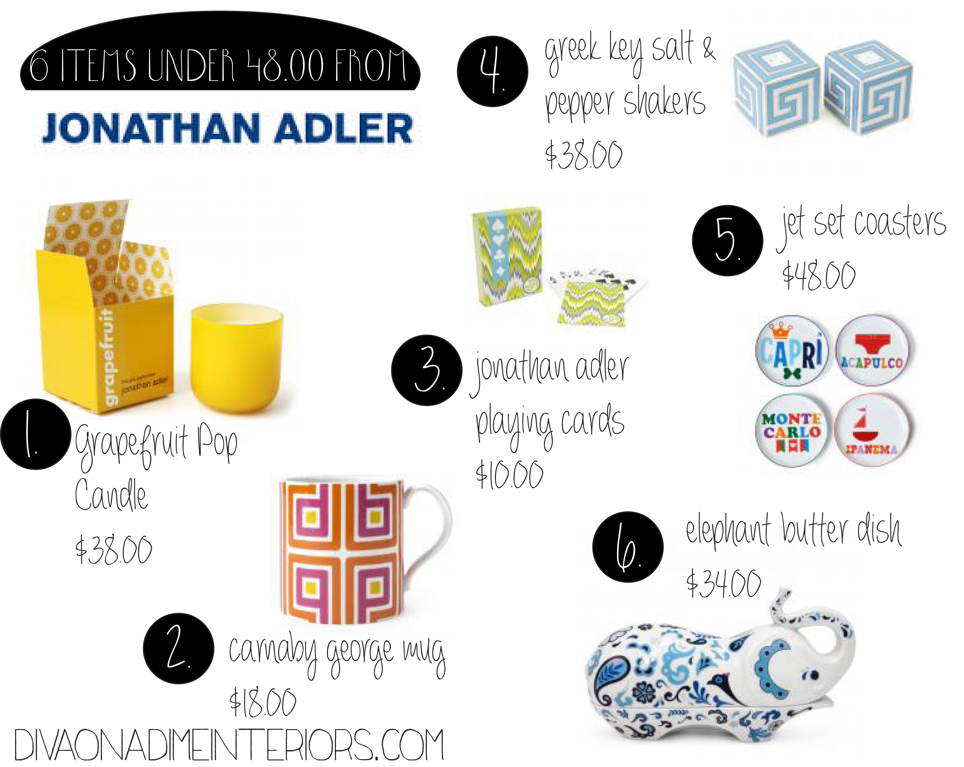 6 Finds under $48.00 From Johnathon Adler