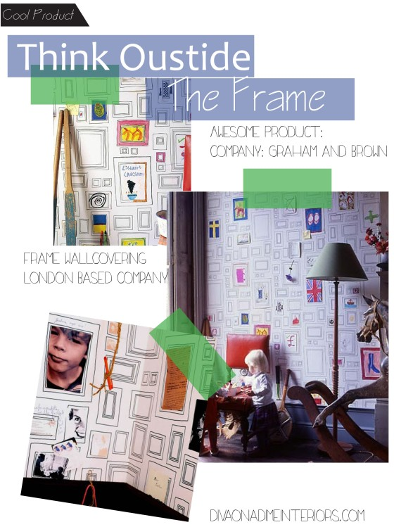 frame wallcovering graham and brown diva on a dime interiors marissa iacovoni