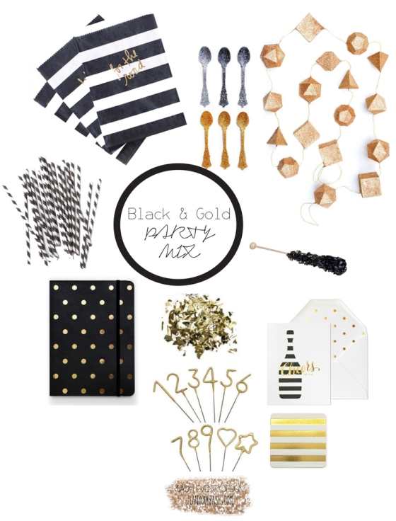 BASH EVENT DESIGN PARTY MIX BLACK AND GOLD (1)
