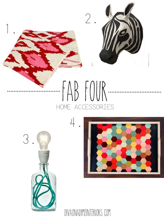FAB FOUR HOME ACCESSORIES DIVA ON A DIME INTERIORS HOME DECOR BLOG