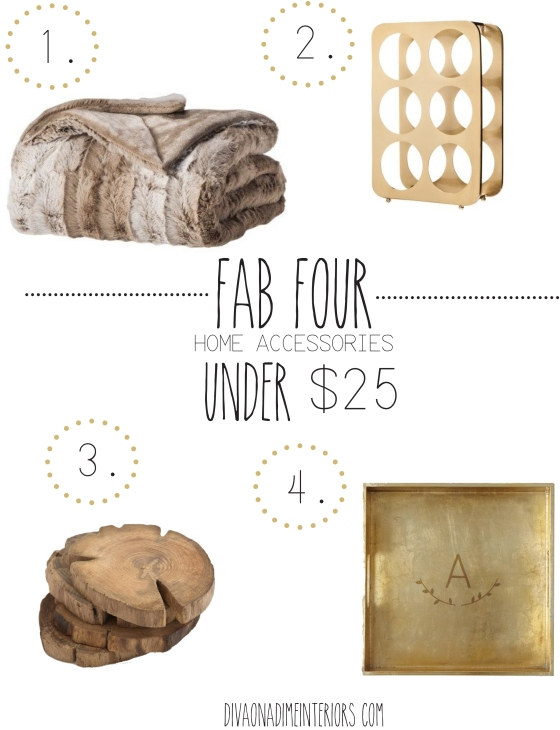 FAB FOUR DIVA ON A DIME INTERIORS UNDER 25