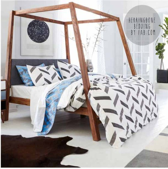 herringbone DUVET COVER BY FAB DIVA ON A DIME INTERIORS HOME DECOR BLOG INTERIOR DESIGN